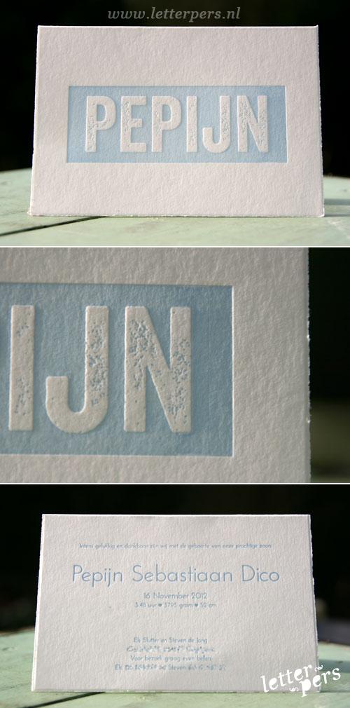 letterpers_letterpress_geboortekaartje_Pepijn_oudhollands