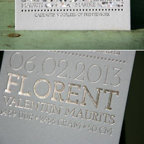 letterpers_letterpress_Florent_geboortekaartje_foliedruk_zilver_blauw_ue
