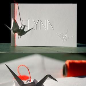 letterpers_letterpress_geboortekaartje_Flynn_kraanvogel_fluor_neon_origami_ue