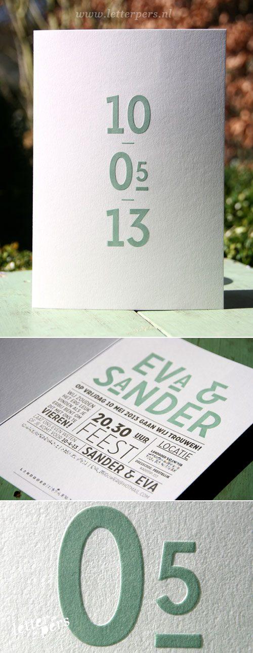letterpers_letterpress_trouwkaart_Eva_Sander_datum_relief_gevouwen