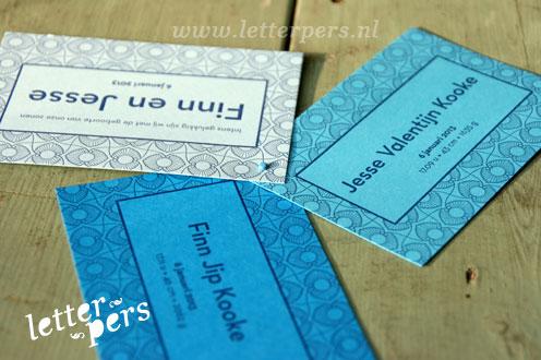 letterpers_letterpress_Fin_Jesse_geboortekaartje_tweeling_gekleurd_papier