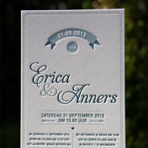 letterpers_letterpress_trouwkaart_erika-en-Anners_blauw_klassiek_preeg_ue