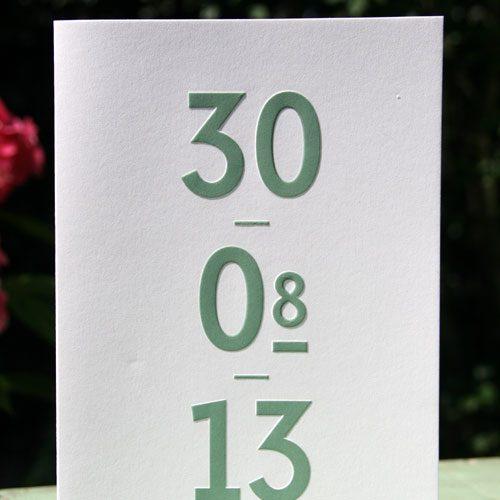 letterpers_letterpress_trouwkaart_Robin-en-Annick_stoer_groen_preeg_ue