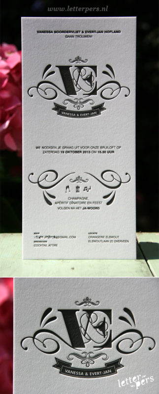 letterpers_letterpress_trouwkaart_Vanessa-en-Evert-jan_klassiek_preeg_mooi