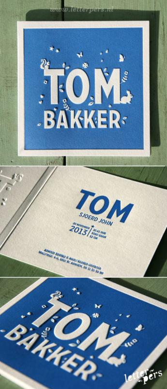 letterpers_letterpress_geboortekaartje_Tom_blauw_lief-kaartje_gevouwen_preeg