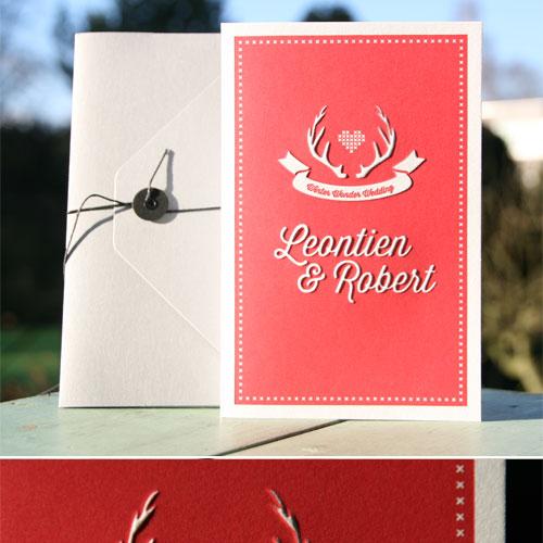 letterpers_letterpress_trouwkaart_Leontien-en-Robert_rood_fluor_preeg_ue