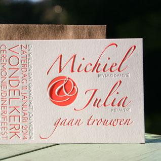 letterpers_letterpress_trouwkaart_-Michel-en-Julia_rood_blinddruk_preeg_klassiek_ue