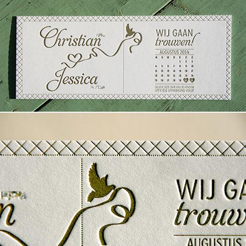 letterpers_letterpress_trouwkaart_goud_romantisch_Christian_Jessica_ue