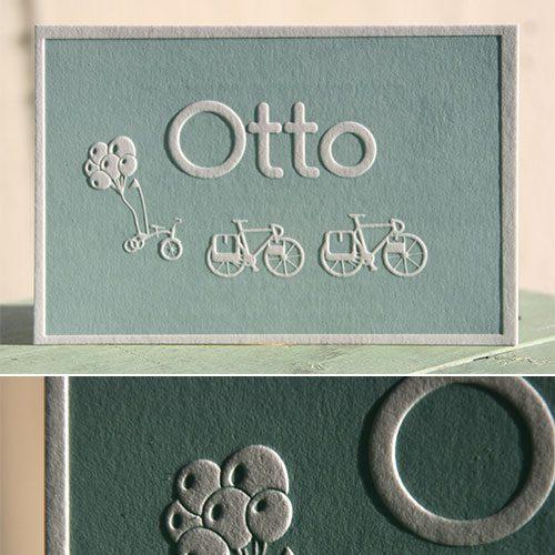 letterpers_letterpress_Geboortekaartje_Otto_blauw_groen_fiets_ballon_enveloppe_ue