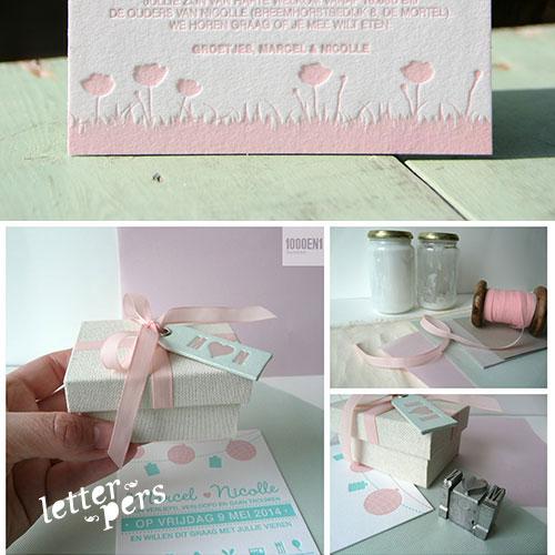 letterpers_letterpress_trouwkaart_marcel_nicolle_mint_roze_lampions_ringendoosje_romantisch_eu_extra