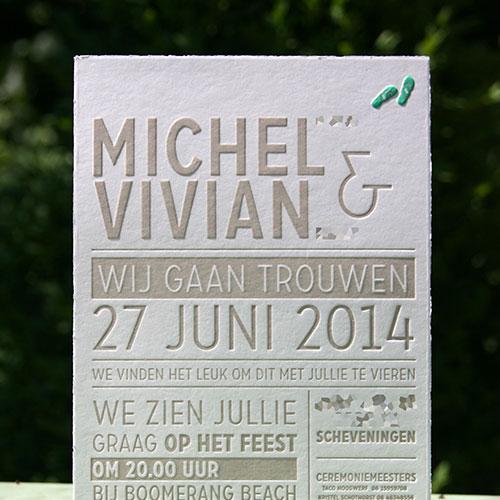 letterpers_letterpress_trouwkaart_michel_vivian_preeg_slippers_typografisch_beige_scheprandje_oudhollands_ue