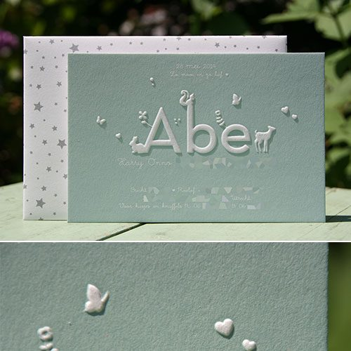 letterpers_letterpress_geboortekaartje_abe_preeg_lichtblauw_bosdieren_sterren_lief_ue