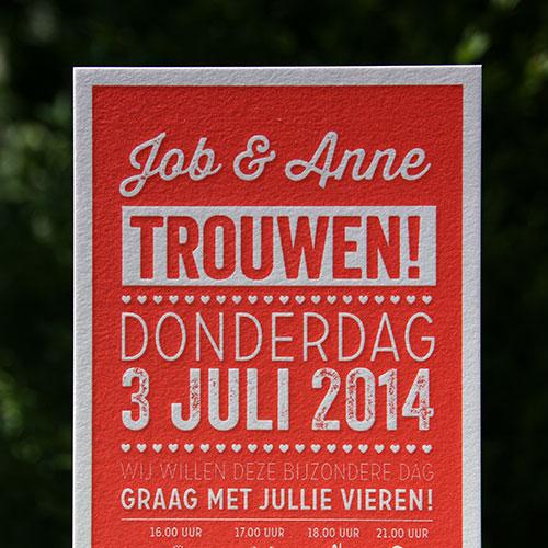 letterpers_letterpress_trouwkaart_Job_anne_rood_typgrafisch_hip_ue