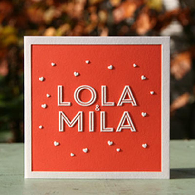 Lola Mila tweeling preeg dubbel rood