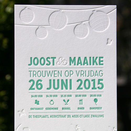 Letterpers_letterpress_trouwkaart_bruiloft_wedding_invitation_gras_tuin_lampionnen_ue