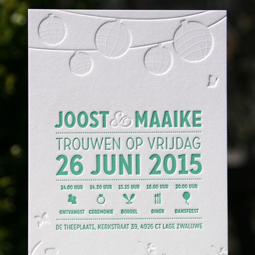 Letterpers_letterpress_trouwkaart_bruiloft_wedding_invitation_gras_tuin_lampionnen_ue