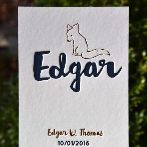 Letterpers_letterpress_geboortekaartje_Edgar_vos_koperfolie_donkerblauw_dik-karton_ue