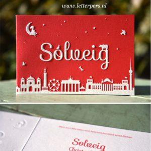 Letterpers_letterpress_geboortekaartje_birth_announcement_Solveig_berlijn_skyline_maan_beer_berlin