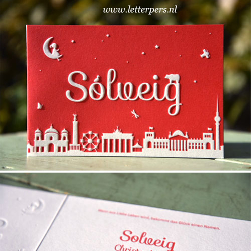 Letterpers_letterpress_geboortekaartje_birth_announcement_Solveig_berlijn_skyline_maan_beer_berlin