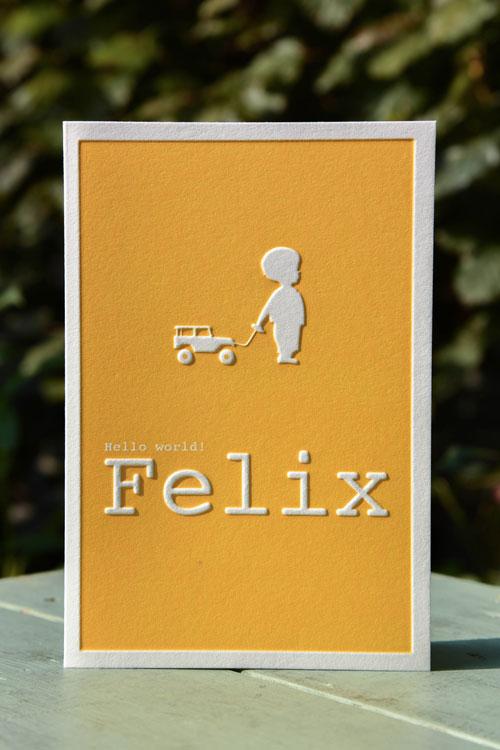 letterpers_letterpress_Felix_geel_preeg