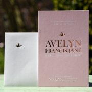 Letterpers_letterpress_geboortekaartje_Avelyn_folie_goud_roze_blingbling_stoer_oooievaar_envelop-2-0542_ue