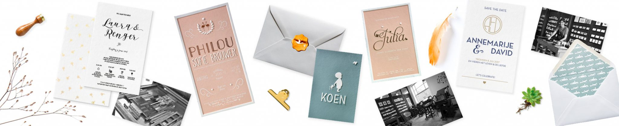 Letterpers letterpress geboortekaarten trouwkaarten enveloppen visitekaart