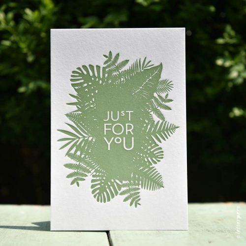 letterpers letterpress jungle bladeren