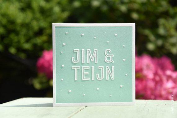 Letterpers-Letterpers-geboortekaart-Letterpers-Letterpers-geboortekaart-Jim-Teijn-tweeling-mint-groen-DSC-1031