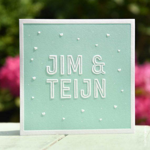 Letterpers-Letterpers-geboortekaart-Letterpers-Letterpers-geboortekaart-Jim-Teijn-tweeling-mint-groen-DSC-1031-ue