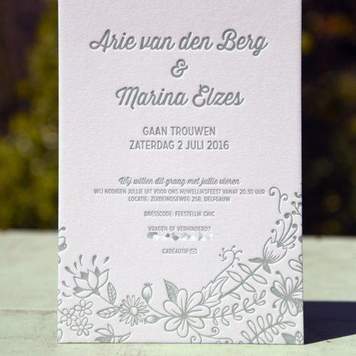Letterpers-letterpress-geboortekaartje-trouwkaart-Arie-Marina-bloemen-2-0516-ue