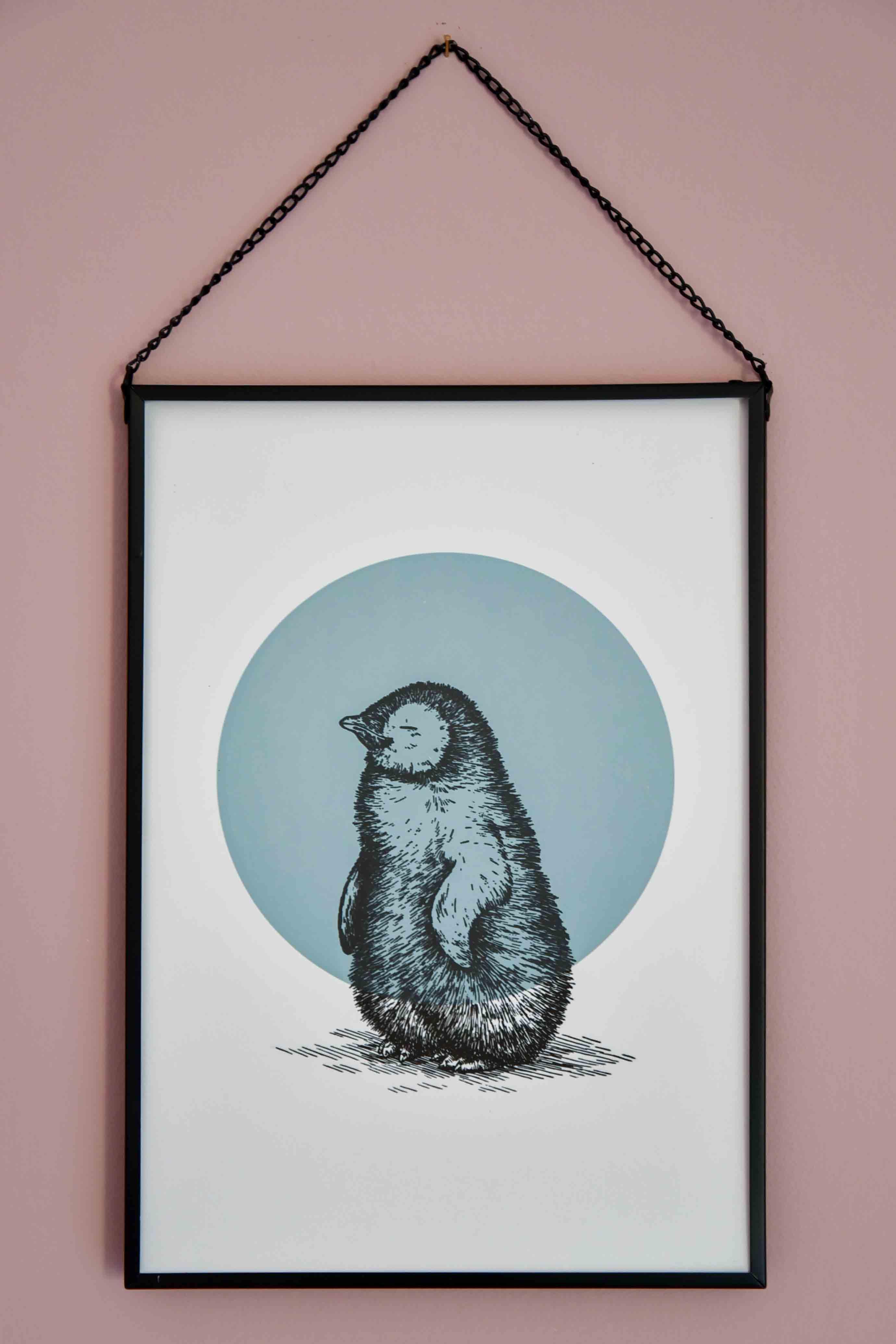 DSC_3823_letterpers_letterpress_poster_pinguin_blue_blauw_children_kinderkamer