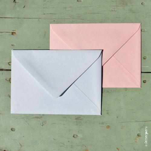 Letterpers Letterpers geboortekaart DSC 3720 roze blauw envelop