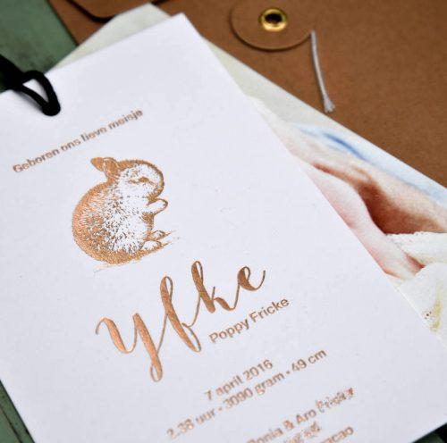 Yfke folie konijntje koper foto
