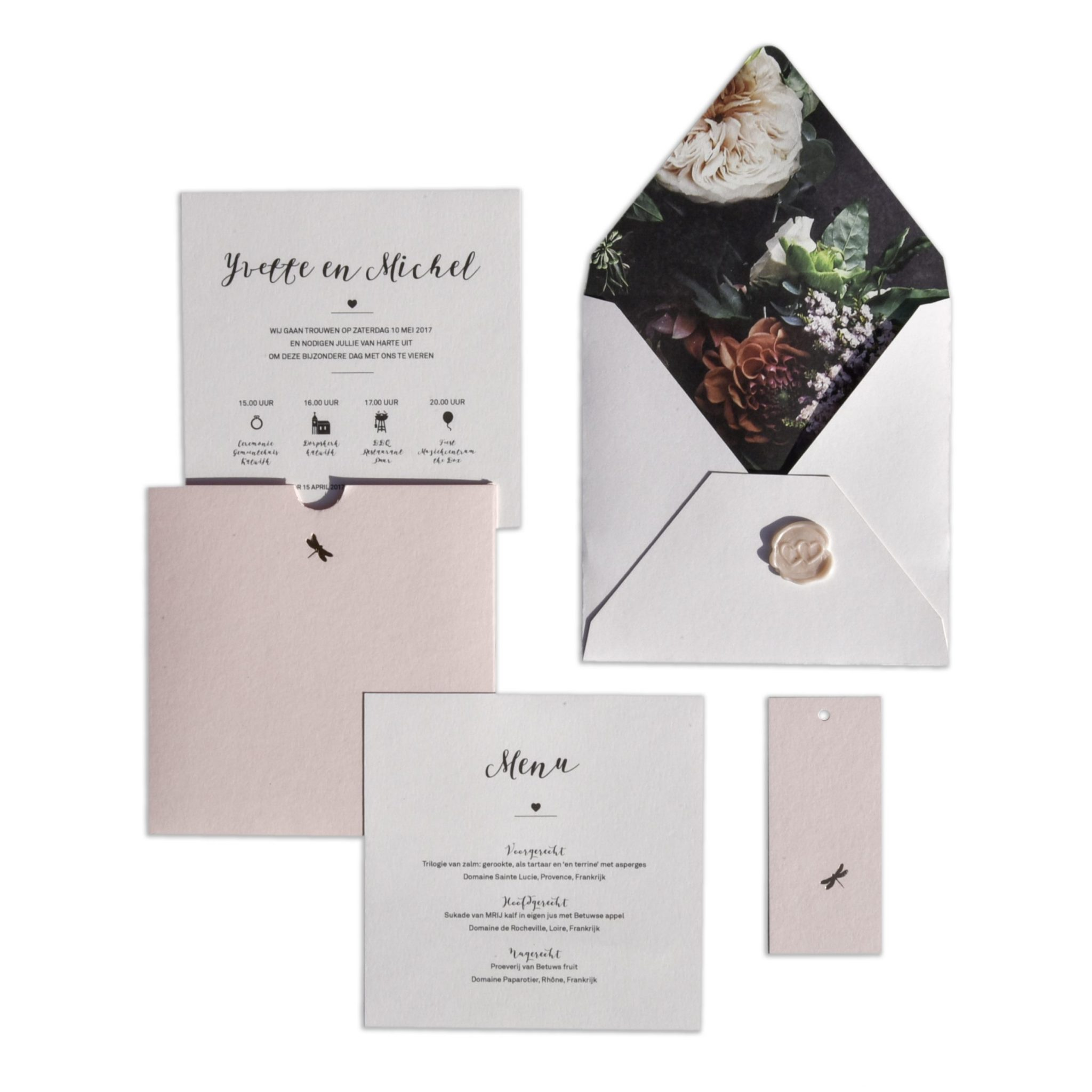 yvette_michel trouwkaart wedding invitation