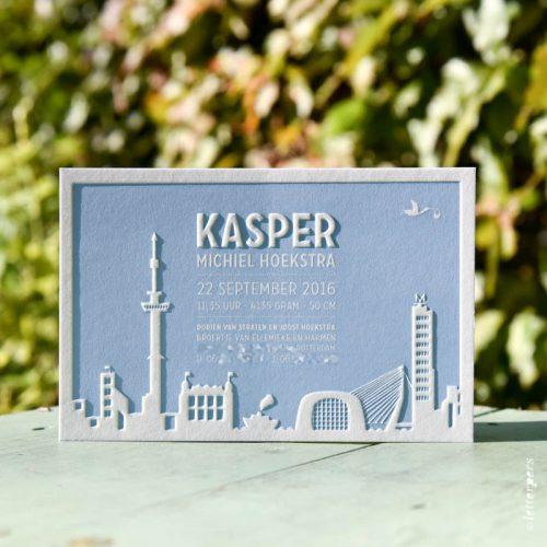 letterpers letterpress skyline rotterdam reliëf