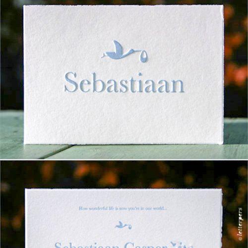 Letterpers Letterpress ooievaar