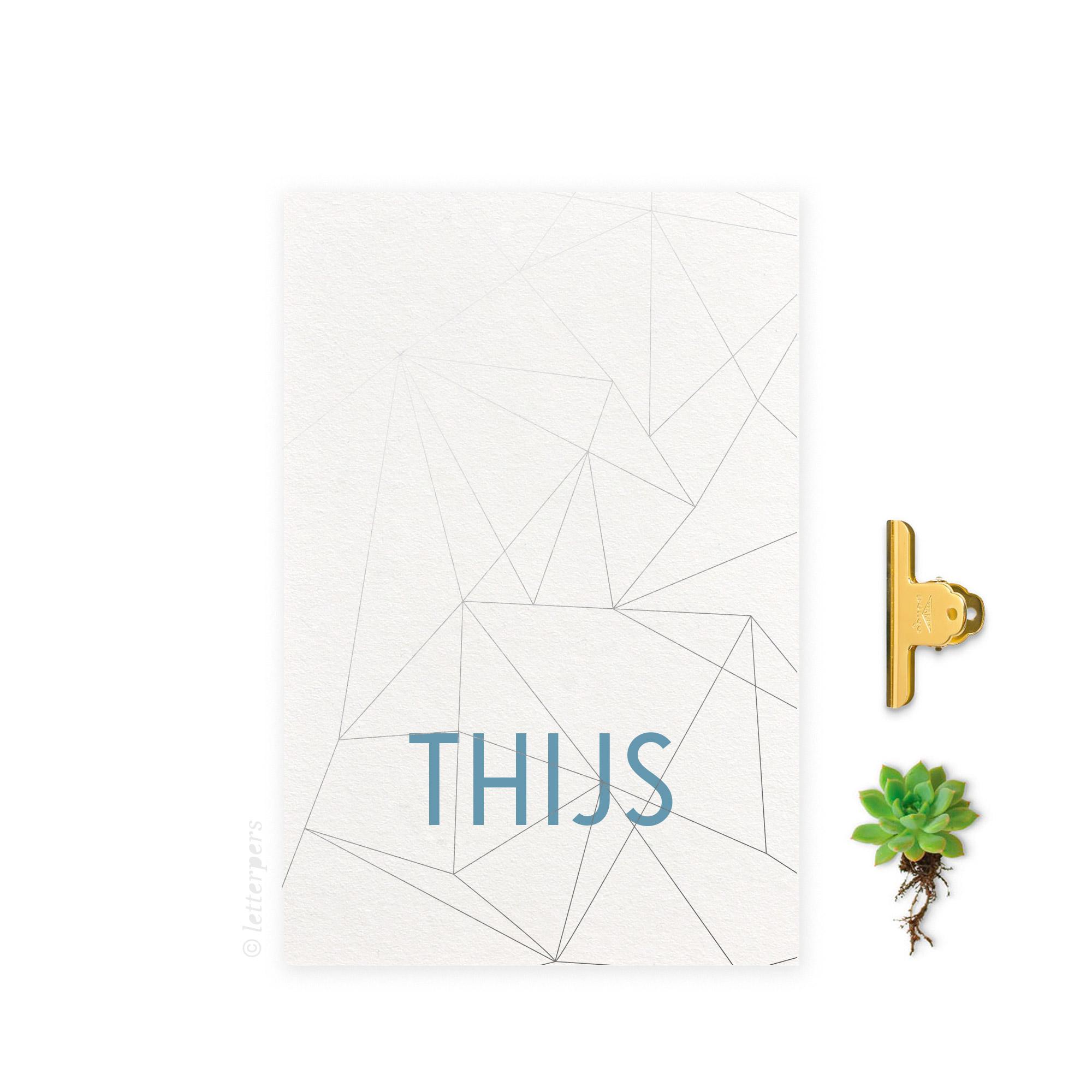 Geboortekaartje_folie_jongen_lijnen_letterpers_letterpress