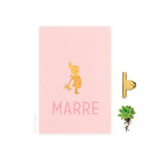 Geboortekaartje_folie_meisje_indiaantje_roze_letterpers_letterpress