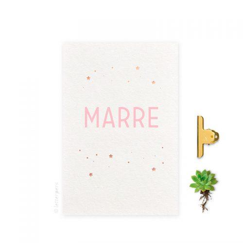 Geboortekaartje folie meisje sterren naam letterpers letterpress
