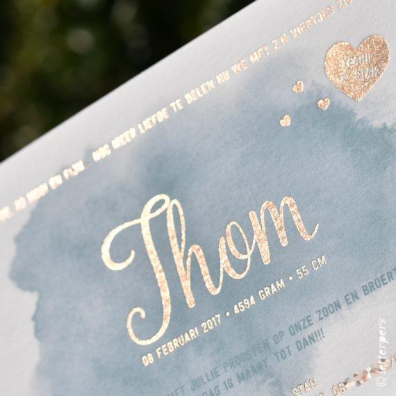 Letterpers-Letterpress-geboortekaart-DSC_8996-aquarel-Thom-folie-koper-2