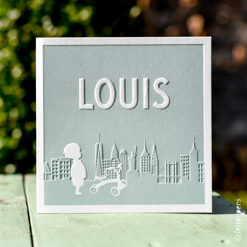 New York, letterpers, letterpress, skyline, Louis