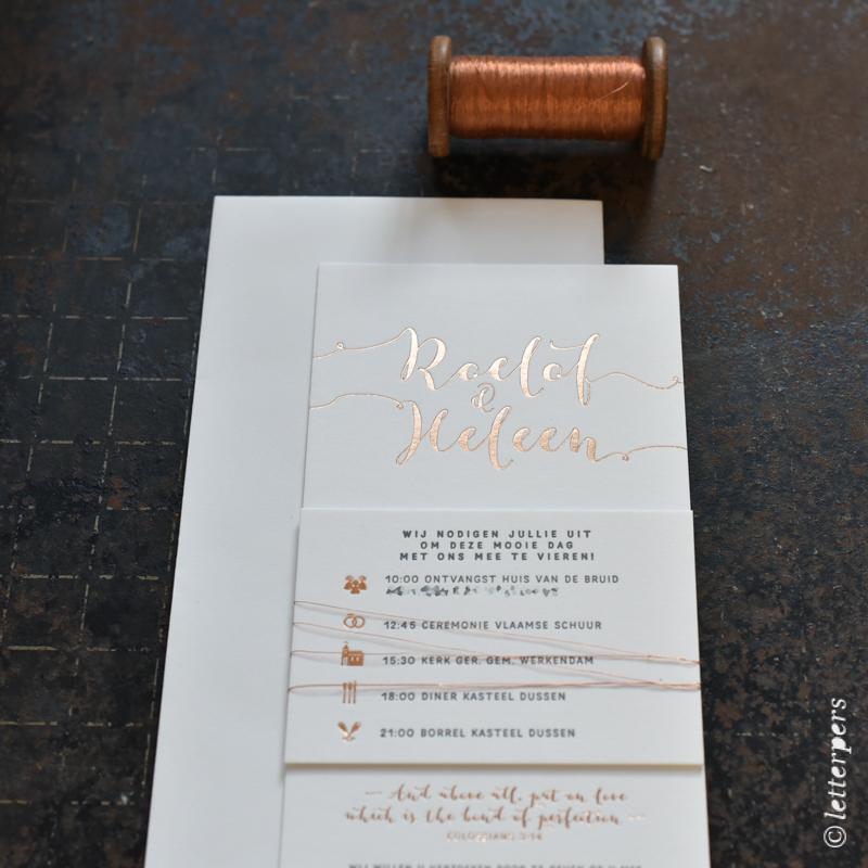 letterpers, kalligrafie, koper, goud, letterpress, folie