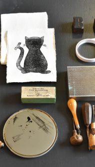 Letterpers-Letterpress-geboortekaart-Letterpers-Letterpress_poster_cat_handmade_paper_Linoleum_poes-DSC_0071