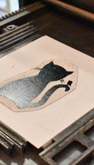Letterpers-Letterpress-geboortekaart-Letterpers-Letterpress_poster_cat_handmade_paper_Linoleum_poes-DSC_0081