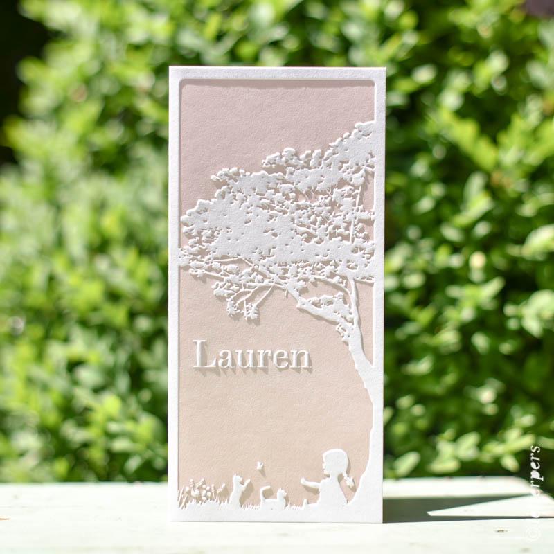 Letterpers Letterpress geboortekaart Lauren
