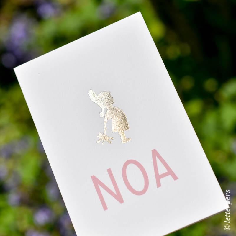 letterpers, letterpress, folie, indiaan, goud, print, geboortekaartje, birth announcement