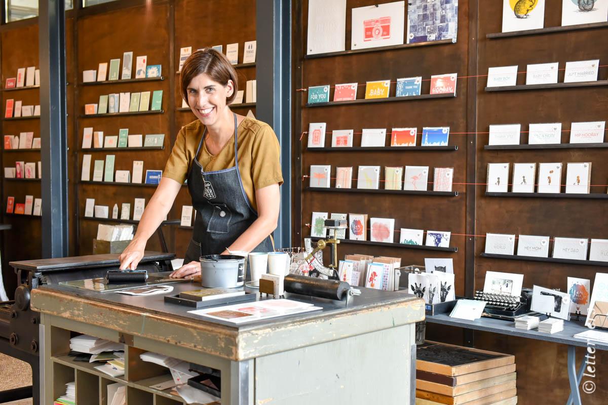 Khadi handmade paper Im Offline letterpers letterpress Tiny Risselada