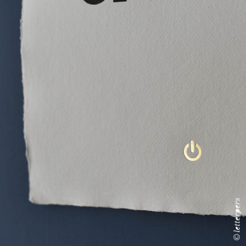 Khadi handmade paper Im Offline letterpers letterpress