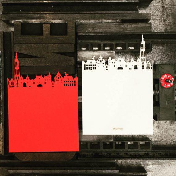 Letterpers-Letterpers-skyline-amersfoort-laseren-trouwkaart-geboortekaart