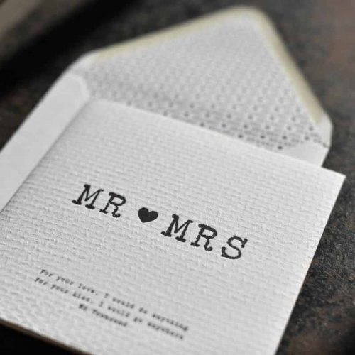 Trouwkaarten Mr en Mrs